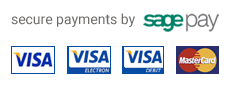 payments securly made via SagePay.